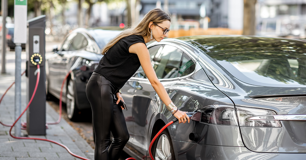 Electric Cars Stock Image